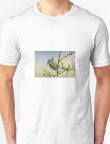 Blue tit on pussy willow T-Shirt