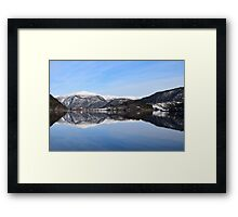 Water quiet as a mirror Framed Print
