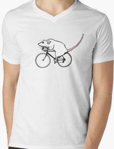 Cycling Rat Mens V-Neck T-Shirt