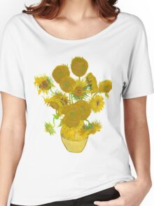 Sunflowers by Vincent van Gogh Women's Relaxed Fit T-Shirt