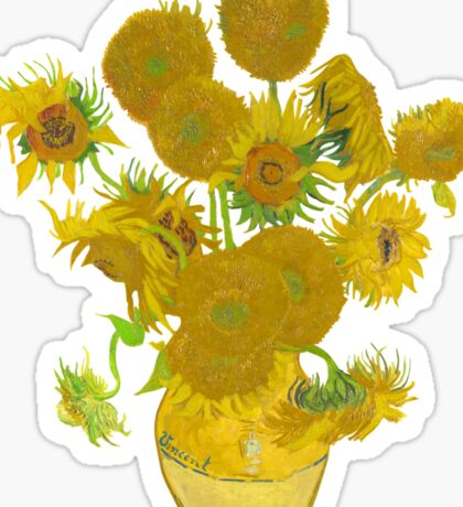 Sunflowers by Vincent van Gogh Sticker