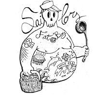 Fat Boy Bi.Sailors Photographic Print