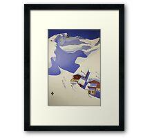 Austrian Ski Poster Framed Print