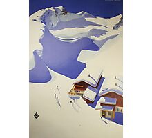Austrian Ski Poster Photographic Print