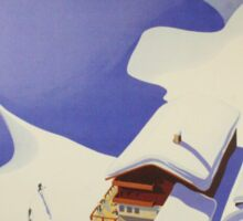 Austrian Ski Poster Sticker