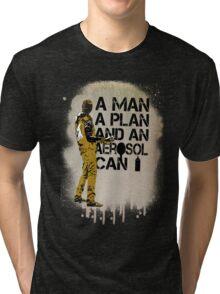 A Man, A Plan and an Aerosol Can Tri-blend T-Shirt