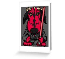 Dark Side Bull Terrier Greeting Card