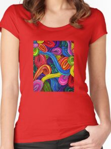 Psychedelic Lines Women's Fitted Scoop T-Shirt