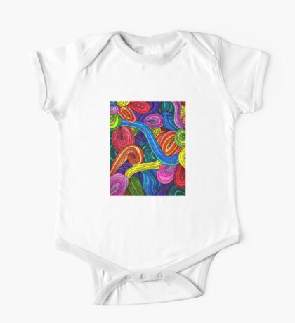 Psychedelic Lines One Piece - Short Sleeve