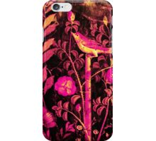 POMPEII COLLECTION NIGHTINGALE WITH PINK ROSES iPhone Case/Skin