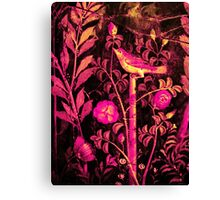 POMPEII COLLECTION NIGHTINGALE WITH PINK ROSES Canvas Print