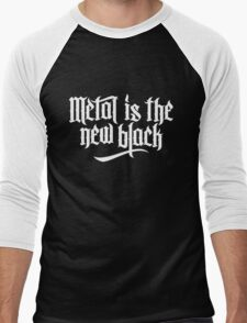 Metal is the new black No.1 (white) Men's Baseball ¾ T-Shirt