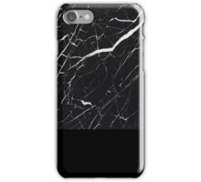 black marble design iPhone Case/Skin