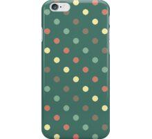 Polka dots (aqua) iPhone Case/Skin