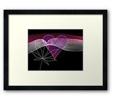 cannabis love cannabis heart Framed Print