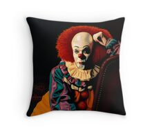 Pennywise painting Throw Pillow
