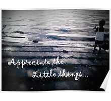 Appreciate the Little Things Poster