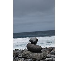 Even stones can line up simply Photographic Print