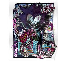 Vicious Wolf Sid - Ded Pistols (Neon Punk) Poster