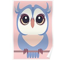 BABY BLUE OWLET Poster