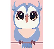 BABY BLUE OWLET Photographic Print