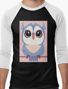 BABY BLUE OWLET Men's Baseball ¾ T-Shirt