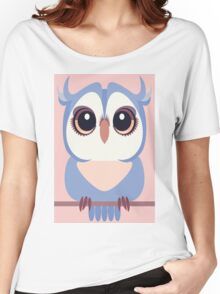 BABY BLUE OWLET Women's Relaxed Fit T-Shirt