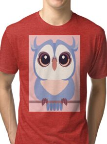 BABY BLUE OWLET Tri-blend T-Shirt