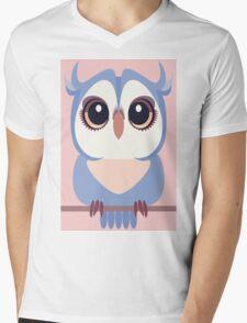 BABY BLUE OWLET Mens V-Neck T-Shirt