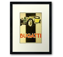 Art Deco Poster - Bugatti Framed Print