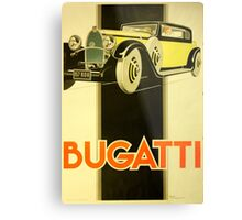 Art Deco Poster - Bugatti Metal Print