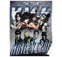 THE TOUR COMPILATION KISS FEAT MOTLEY CRU Poster