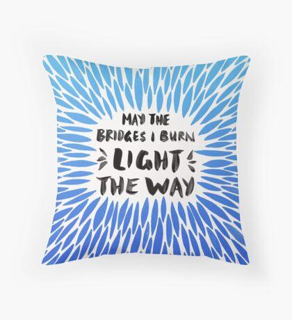 Bridges Burned – Blue Ombré Throw Pillow