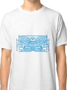 design lines microchip disk pattern cool lines Classic T-Shirt