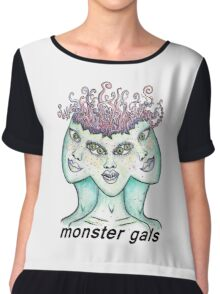 monster gals (with text)  Chiffon Top