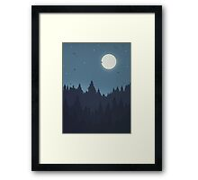 Tree Line - Blue Framed Print