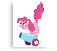PINKIE PIE WITH CANNON Canvas Print