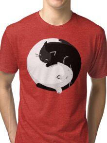 Yin Yang Cats - version 2 Tri-blend T-Shirt