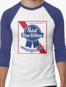 Pabst Blue Ribbon Men's Baseball ¾ T-Shirt