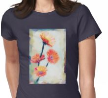 Colorful Orange Zinnias Womens Fitted T-Shirt