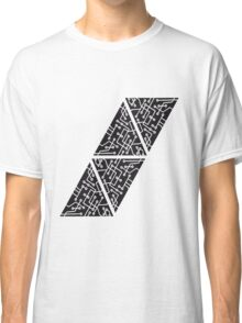 data triangles form microchip technology cool design pattern Classic T-Shirt