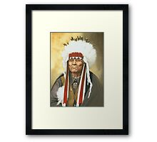 American Indian War Chief Framed Print