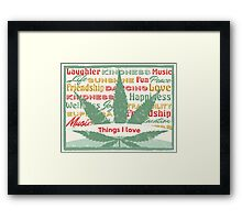 Cannabis Leaf Feelings Framed Print