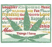 Cannabis Leaf Feelings Photographic Print