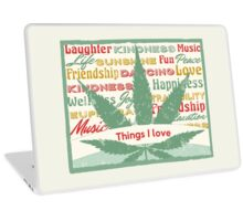 Cannabis Leaf Feelings Laptop Skin