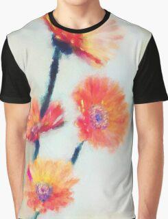 Colorful Orange Zinnias Graphic T-Shirt