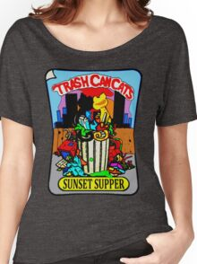 Trash Can Cats - Sunset Supper Women's Relaxed Fit T-Shirt
