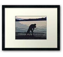 Kiss by the Sea Framed Print