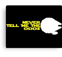Han Solo:  Never Tell Me the Odds Canvas Print