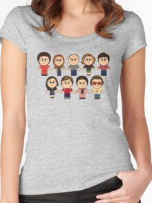THAT 70'S SHOW - MAIN CHARACTERS CHIBI - MANGA 70'S SHOW Women's Fitted Scoop T-Shirt